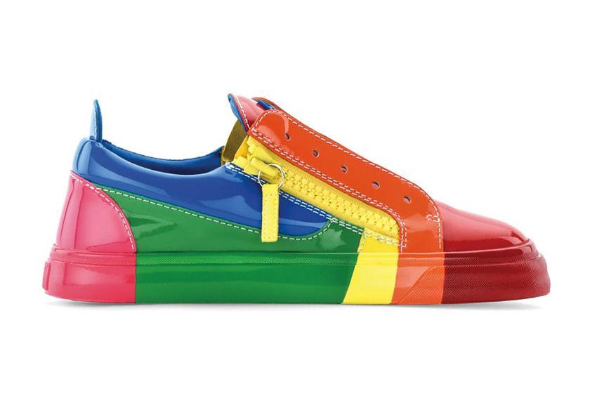 Giày sneakers màu sắc vui tươi của Giuseppe Zanotti Design