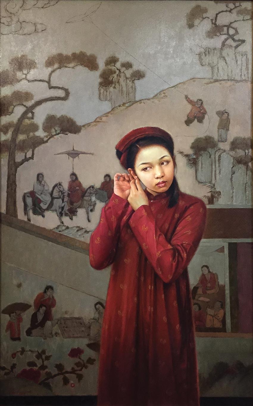 Vùng Mê Thảo 2 - tranh sơn dầu của Lê Thế Anh