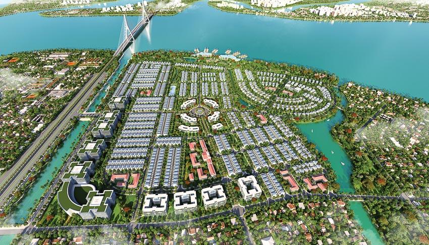 Hình phối cảnh tổng thể khu đô thị sinh thái phức hợp King Bay
