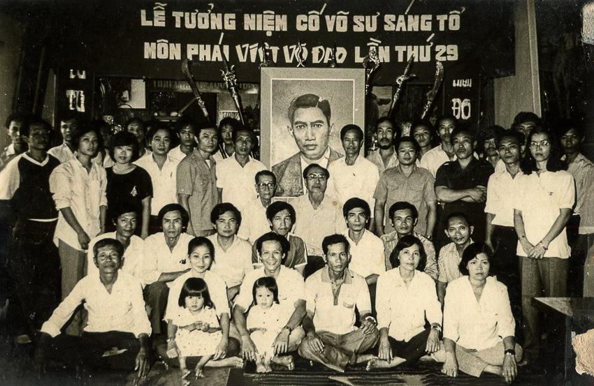 Lễ tưởng niệm Sáng tổ Nguyễn Lộc 1989 tại Tổ đường. | Tư liệu Vothuat.vn