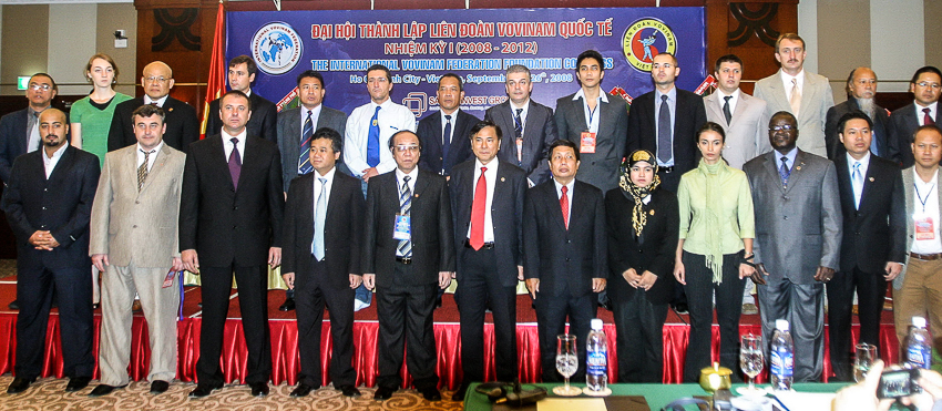 Ban chấp hành Vovinam Quốc tế nhiệm kỳ I.  | Tư liệu Vothuat.vn