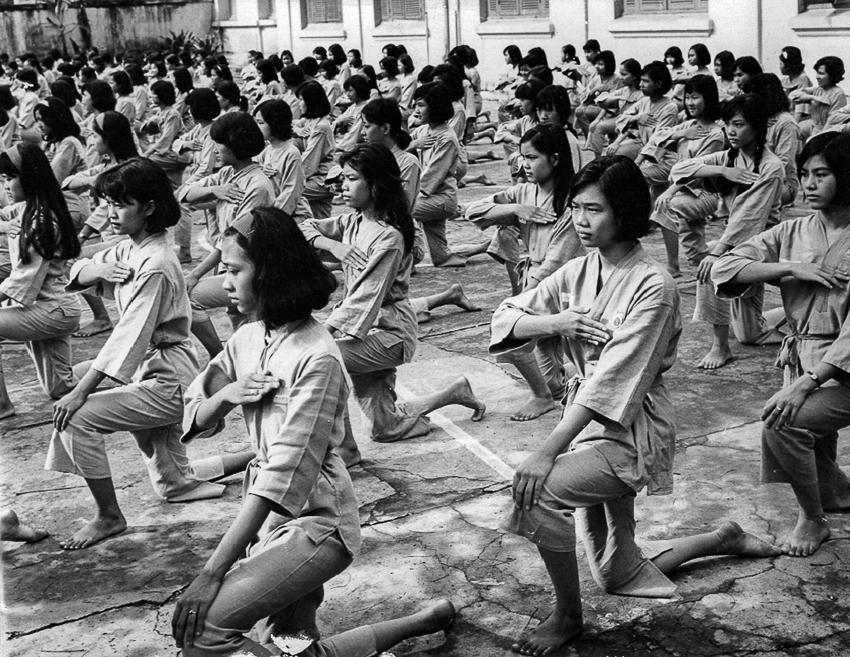 Lớp tập tại Trung học Gia Long – Saigon 1966. | Ảnh: nhiếp ảnh gia Nguyễn Văn Thông