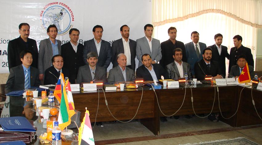 Đại hội thành lập Liên đoàn Vovinam châu Á 21-2-2009 tại Iran. | Tư liệu Vothuat.vn