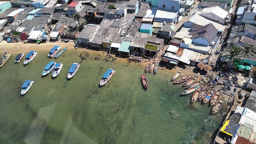 Làng chài vùng biển An Thới nhìn từ cáp treo