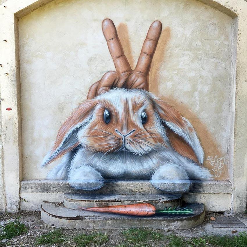 Những bức vẽ thổi hồn vào mảng tường nhàm chán