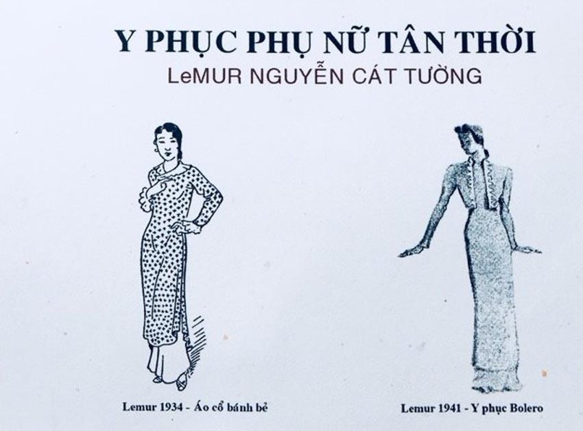 Y phục của phụ nữ tân thời do họa sĩ Cát Tường thiết kế