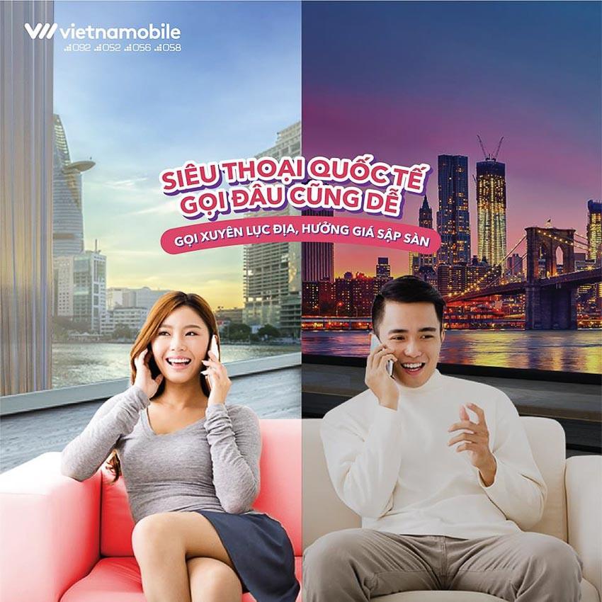 Vietnamobile ra mắt gói cước Siêu điện thoại quốc tế 3