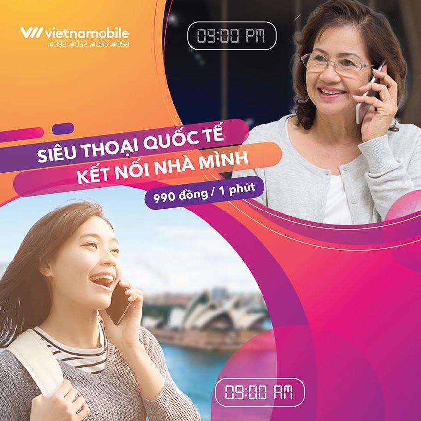 Vietnamobile ra mắt gói cước Siêu điện thoại quốc tế 4