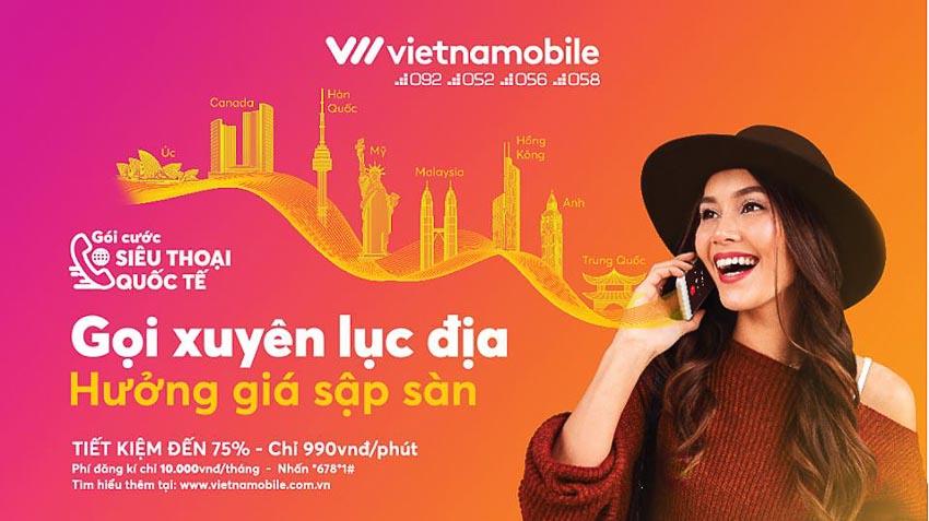 Vietnamobile ra mắt gói cước Siêu điện thoại quốc tế 5