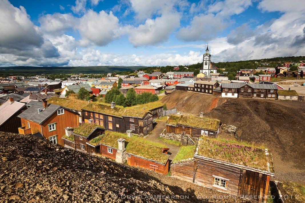 Toàn cảnh thị trấn khai thác mỏ Roros