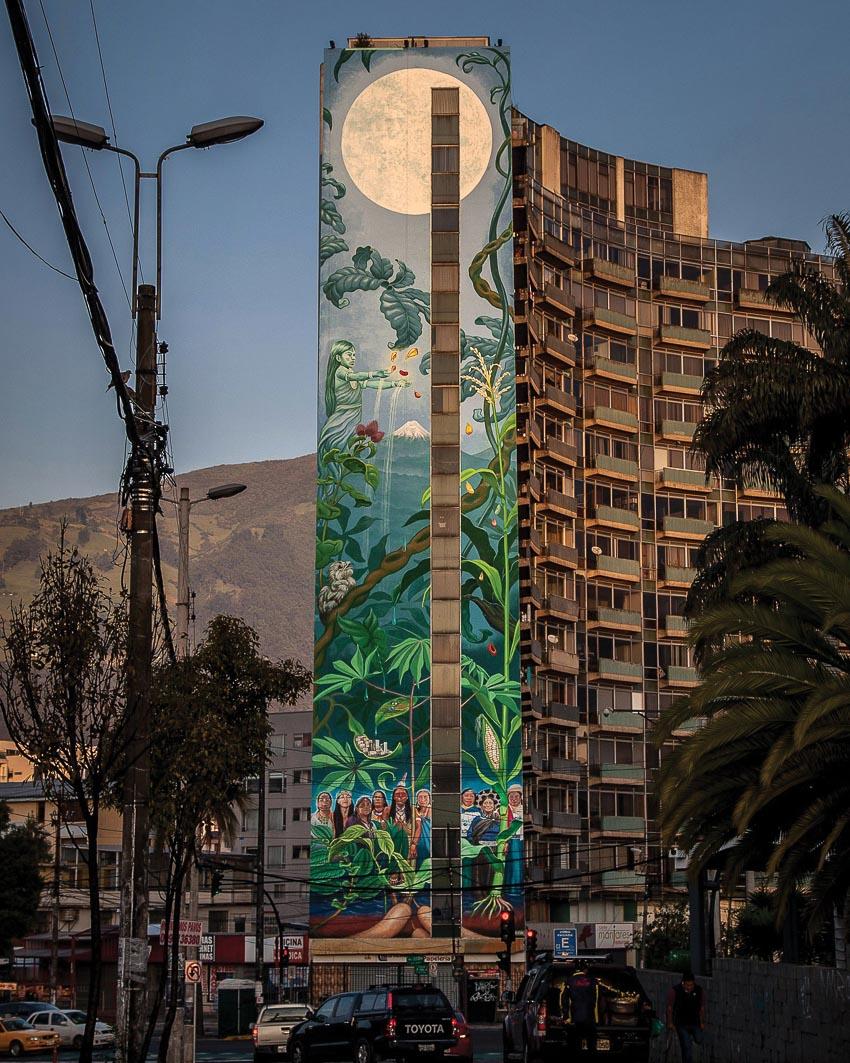 Bức tranh tường cao 50m ở Quito