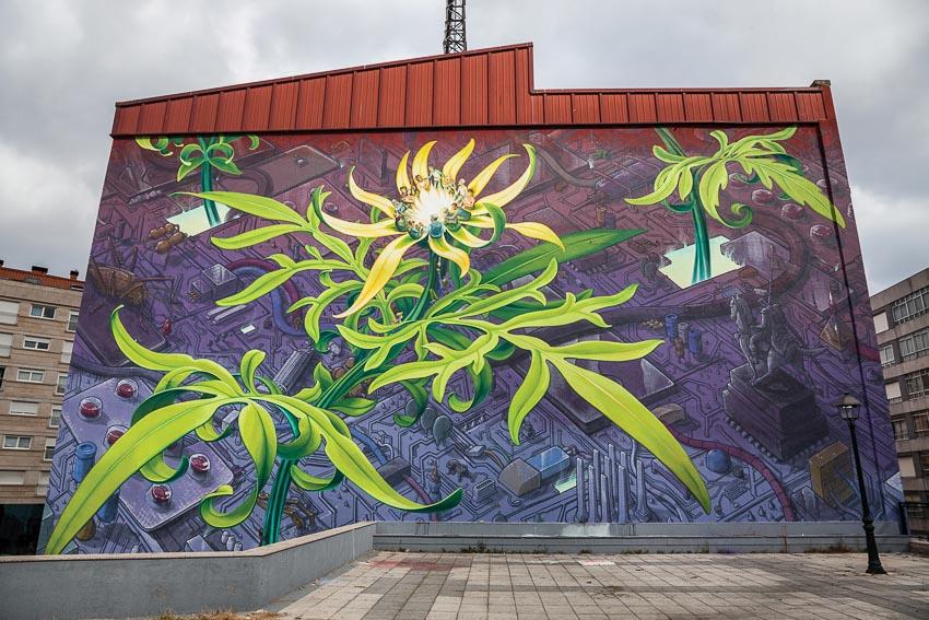 Tranh tường cùng vẽ với Liquen tại Vigo, Tây Ban Nha
