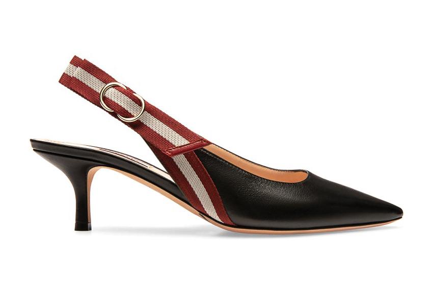 Giày Bally cao gót với phần quai giày nổi bật