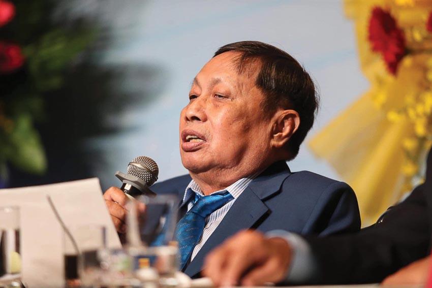 Võ sư Chánh chưởng quản môn phái Vovinam Nguyễn Văn Chiếu trong ngày kỷ niệm 80 năm thành lập môn phái