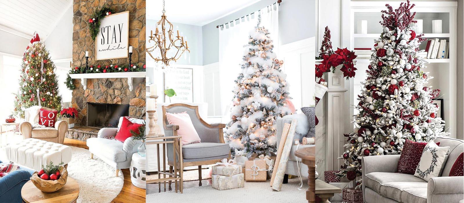 Đem Giáng sinh vào không gian phòng khách