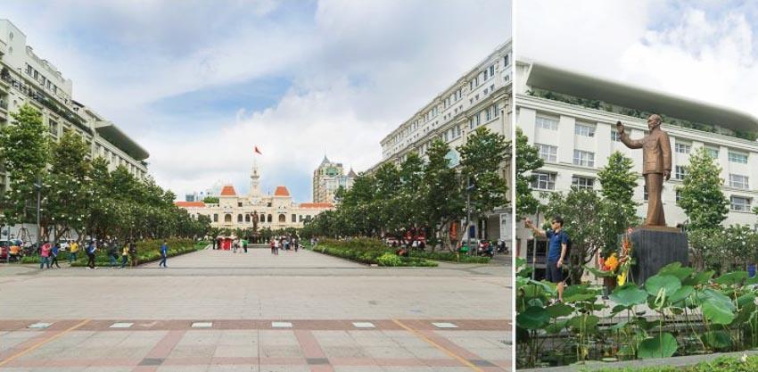Quảng trường tượng đài Chủ tịch Hồ Chí Minh – TP HCM