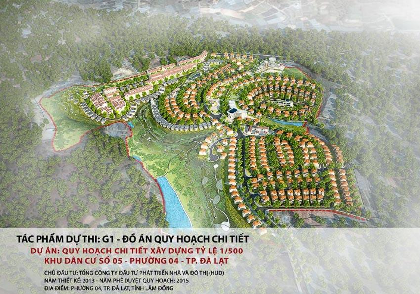 Quy hoạch chi tiết xây dựng tỷ lệ 1/500 khu dân cư số 05, phường 04 – Đà Lạt, Lâm Đồng
