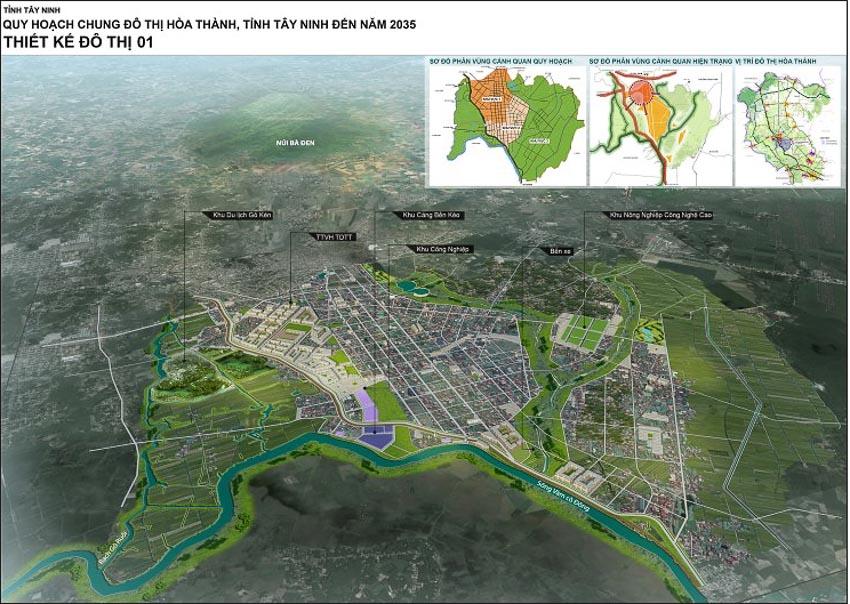 Quy Hoạch chung đô thị Hòa Thành tỉnh Tây Ninh đến năm 2035, tỷ lệ 1/10.000 – Tây Ninh