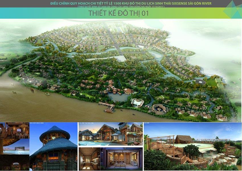 Điều chỉnh tổng thể quy hoạch chi tiết xây dựng tỷ lệ 1/500 khu đô thị du lịch sinh thái Six Sences Sài Gòn River tại xã Đại Phước – Huyện Nhơn Trạch, Đồng Nai