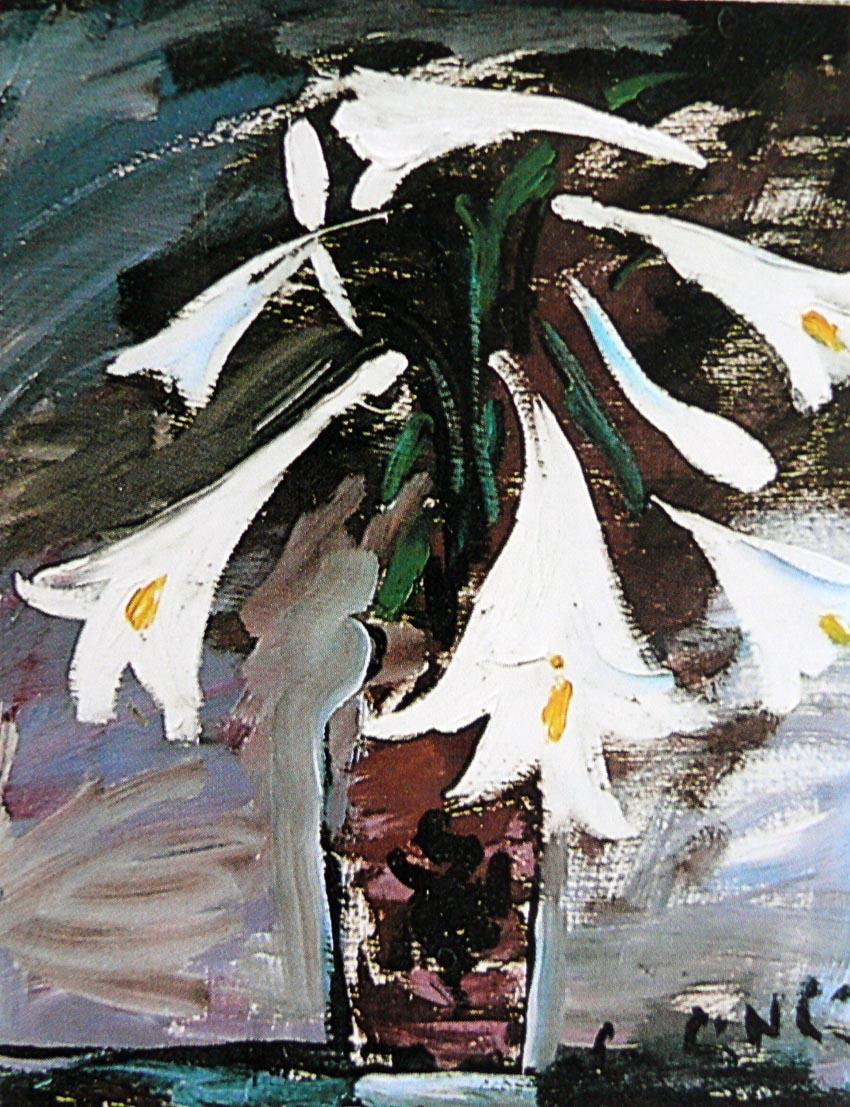 Tĩnh vật hoa loa kèn - Lưu Công Nhân