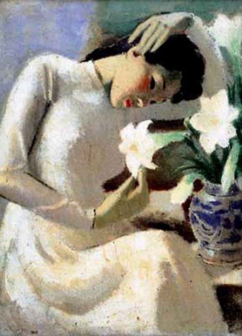 Thiếu nữ bên hoa huệ - Tô Ngọc Vân