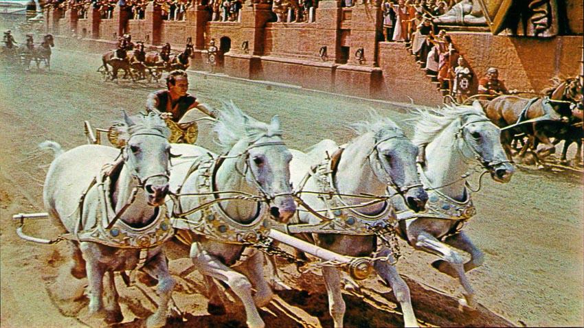 Cảnh đua ngựa trong phim Ben-Hur