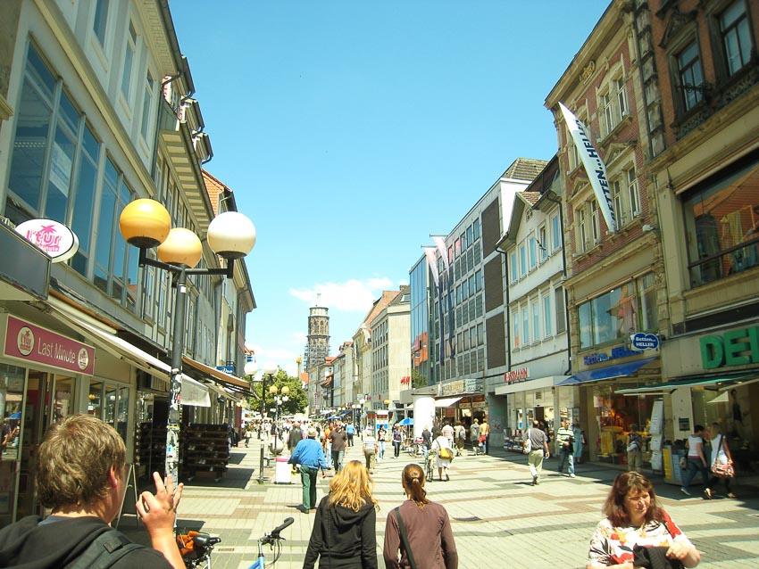 Khu vực trung tâm thành phố Gottingen