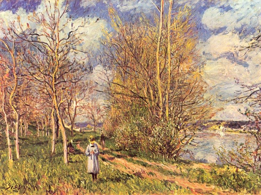 Cánh đồng nhỏ vào Xuân - Alfred Sisley