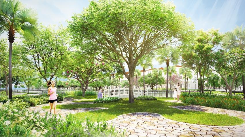 Phối cảnh công viên cây xanh ven sông - dự án Senturia Nam Sai Gon