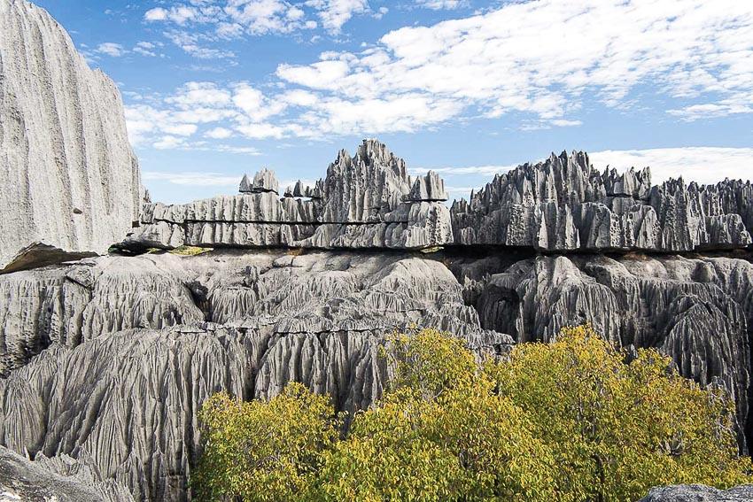 Khung cảnh ấn tượng của rừng đá