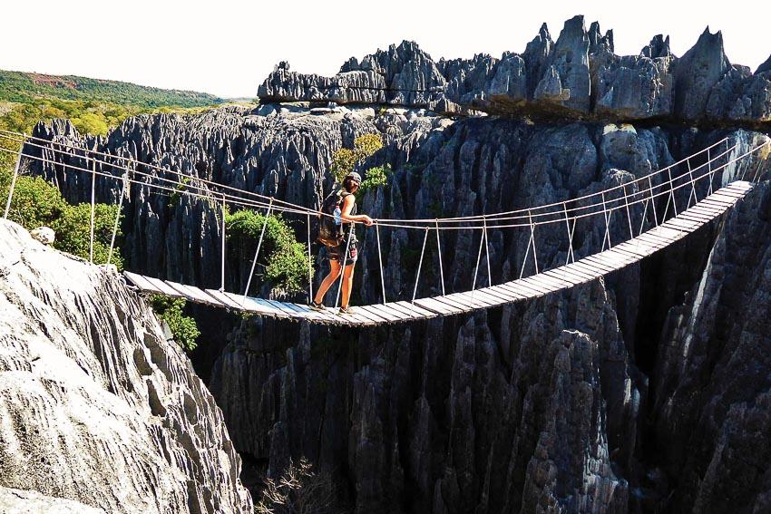 Hệ thống cầu treo dành cho những tay leo núi không chuyên