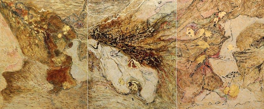 Tình yêu cuộc sống - tranh sơn mài (khổ 100 x 320cm)