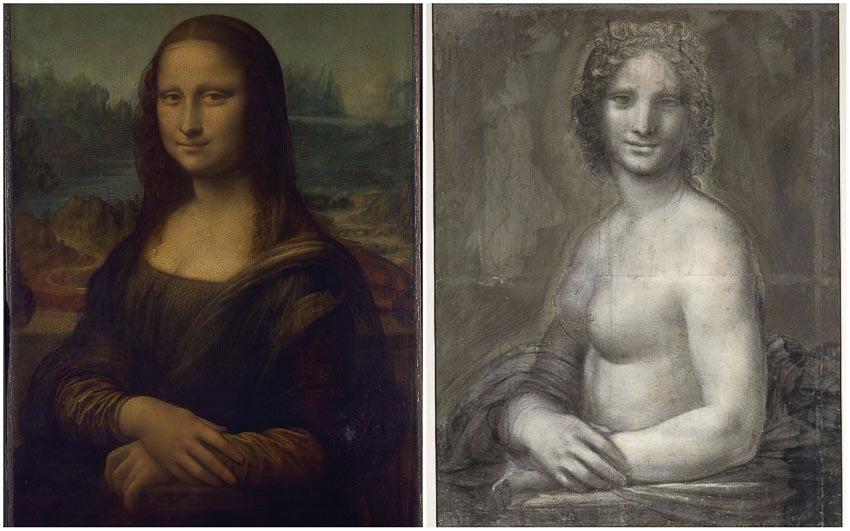Mona Lisa và Mona Lisa khỏa thân (tại lâu đài Domaine de Chantilly)