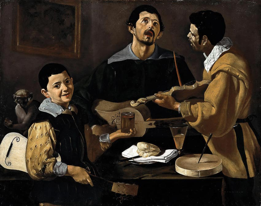 Ba nhạc công - tranh Diego Velázquez (khoảng 1618)
