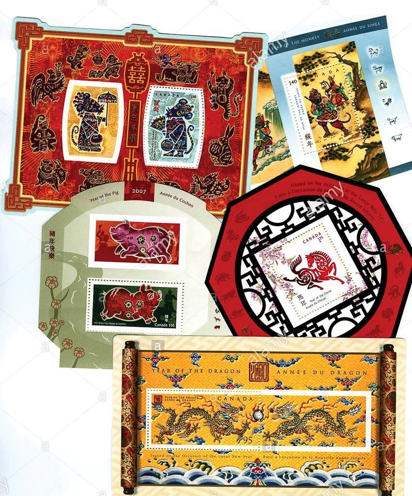 bộ sưu tập tem 12 con giáp