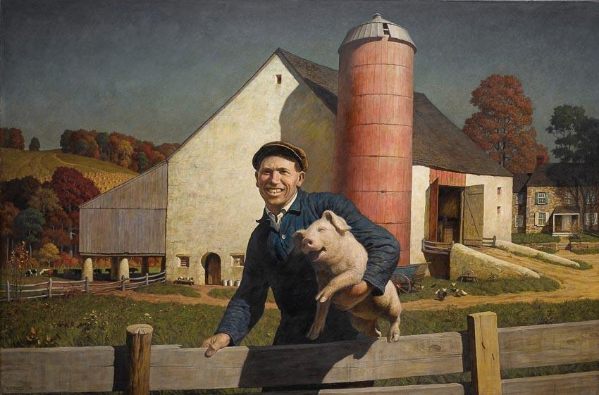 Chân dung một nông dân - tranh của N.C. Wyeth: gần 6 triệu USD