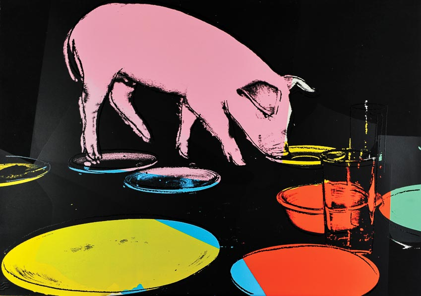 Lễ hội heo - tranh in lụa của Andy Warhol (1979)