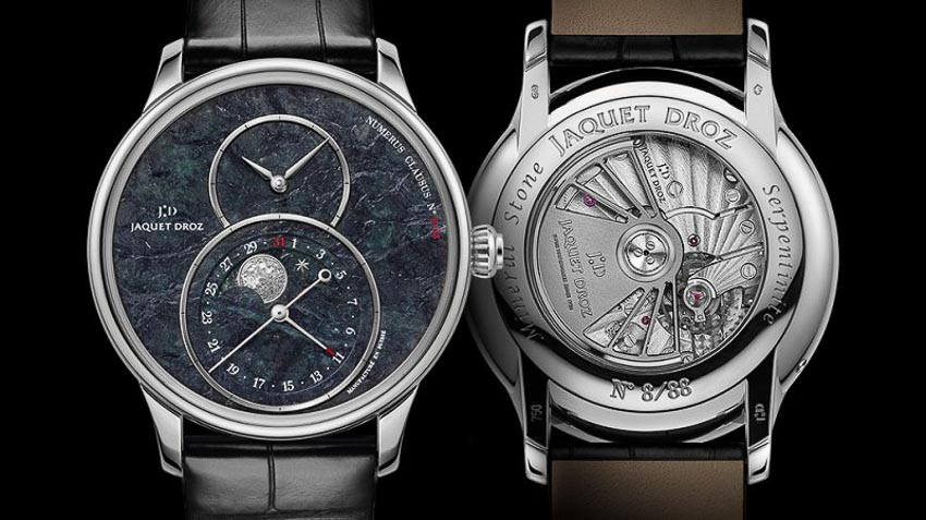 Jaquet Droz ra mắt đồng hồ Grande Seconde Moon Swiss từ đá serpentinite 3