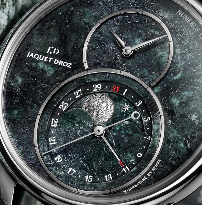 Jaquet Droz ra mắt đồng hồ Grande Seconde Moon Swiss từ đá serpentinite 2
