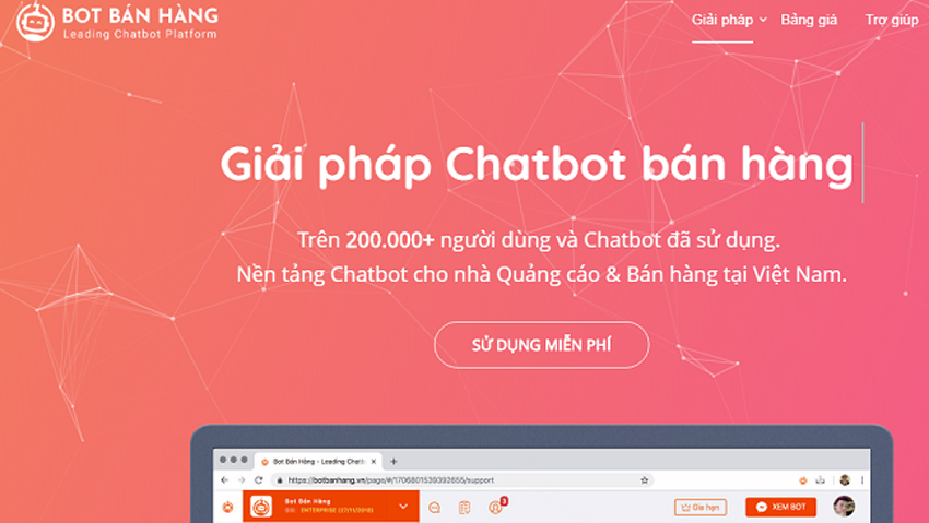 Nền tảng Bot Bán Hàng (botbanhang.vn) ra mắt người dùng vào 1/11/2017