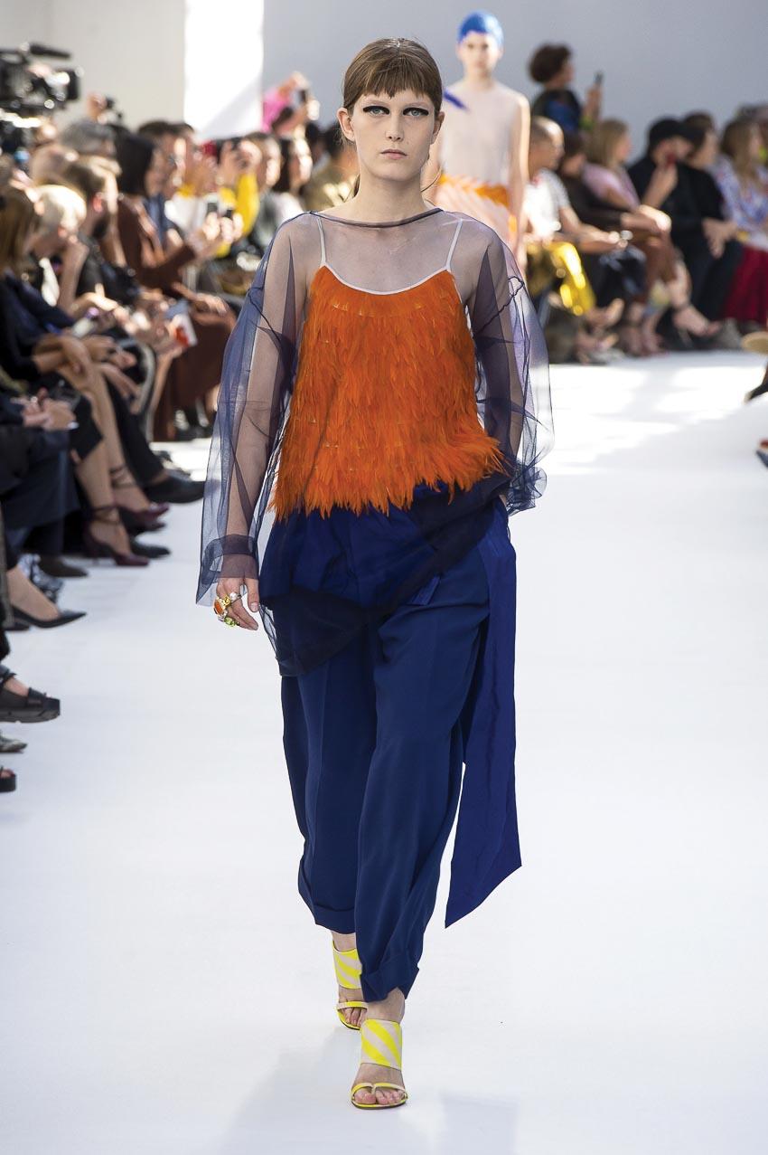 Xu hướng thời trang xuân-hè 2019: Điệu đà với lông vũ 4