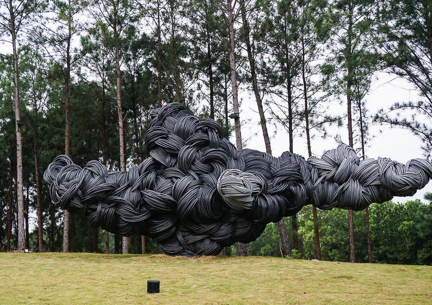 Mây mùa hạ - Vũ Bình Minh (2017), sắt hàn, 25 tấn