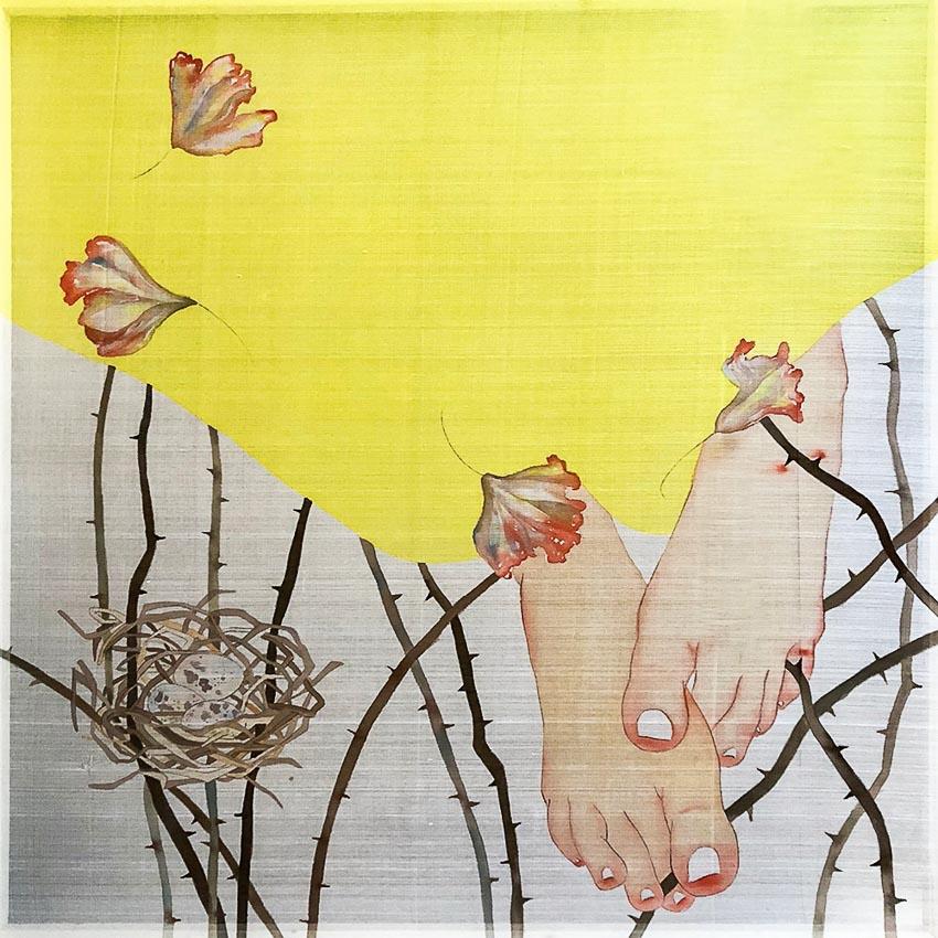 Điều bí mật 3 - Nguyễn Thị Hoàng Minh (2018), tranh lụa