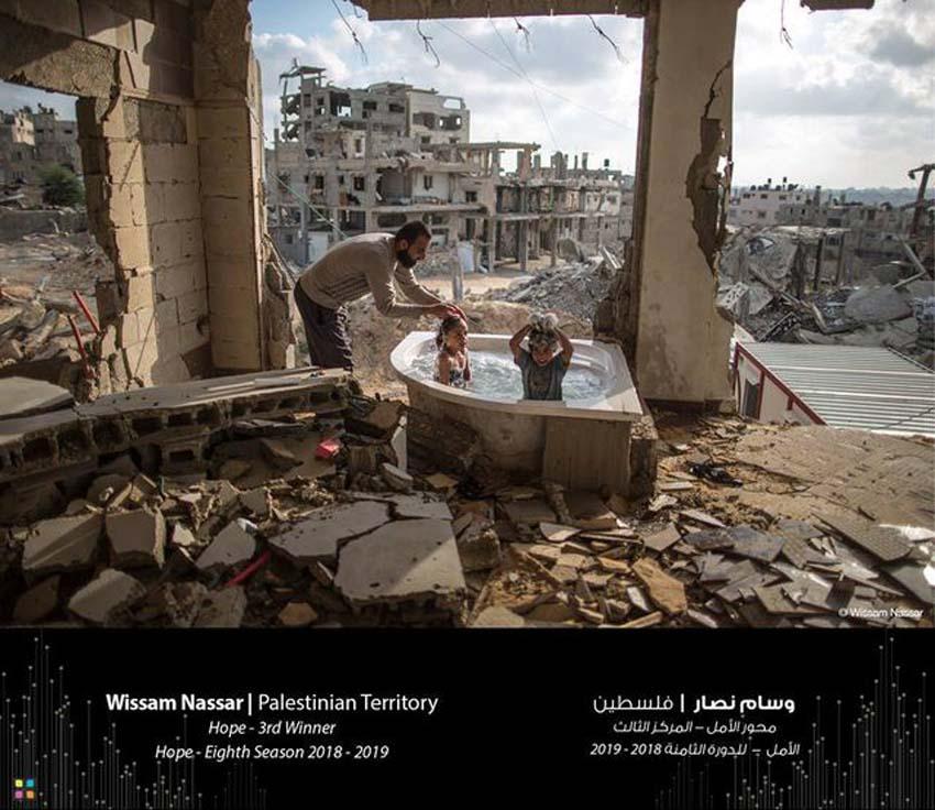 Bức ảnh đạt giải ba của nhiếp ảnh gia Wissam Nassar, người Palestine