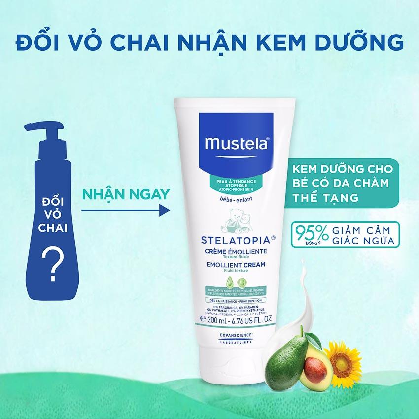 Chương trình đổi vỏ chai sản phẩm dành cho da chàm thể tạng của Mustela 1