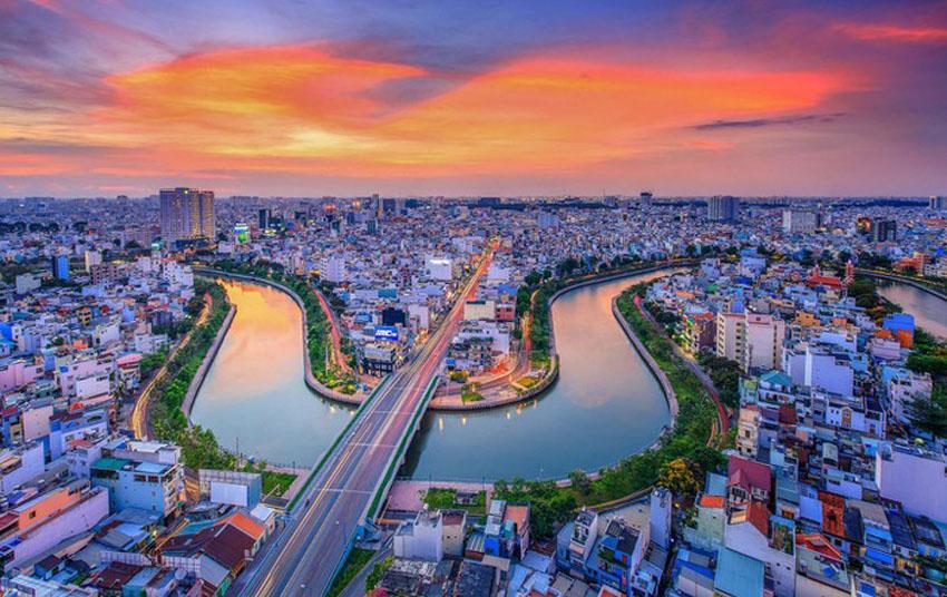 Khoảnh khắc Sài Gòn đẹp lạ thường trong bộ ảnh chụp từ trên cao 1