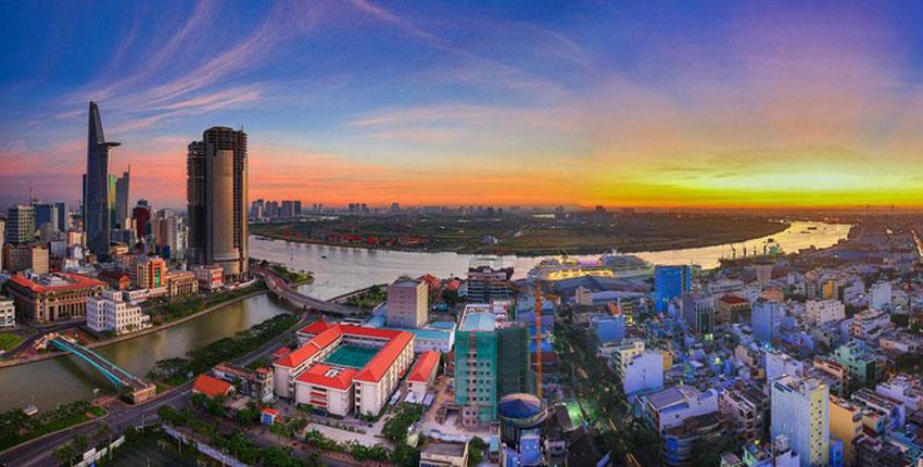 Khoảnh khắc Sài Gòn đẹp lạ thường trong bộ ảnh chụp từ trên cao 2