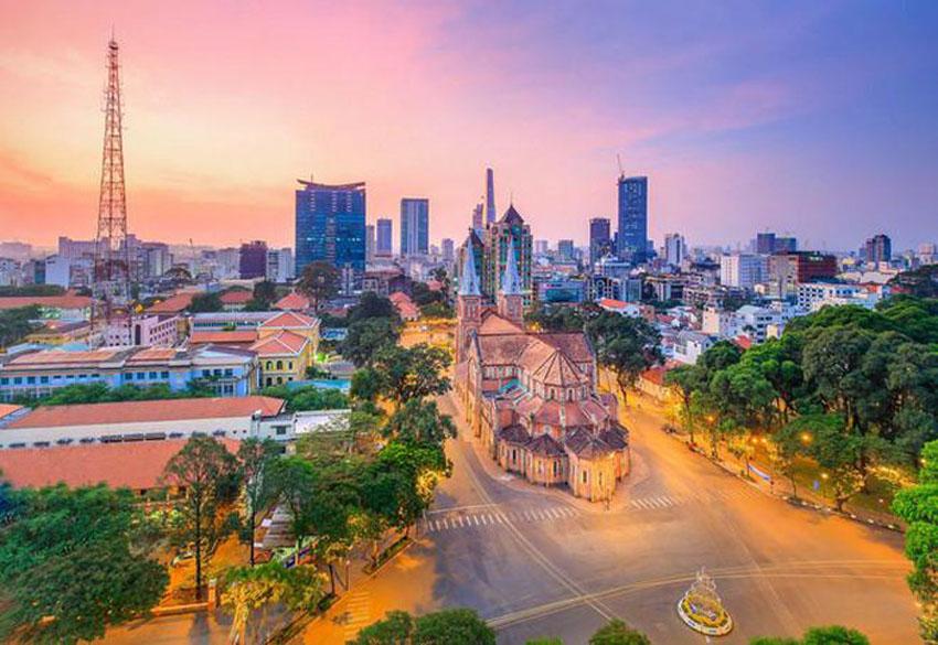 Khoảnh khắc Sài Gòn đẹp lạ thường trong bộ ảnh chụp từ trên cao 3