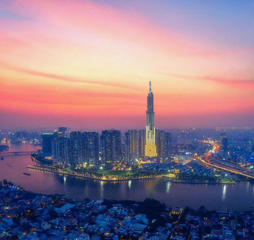 Khoảnh khắc Sài Gòn đẹp lạ thường trong bộ ảnh chụp từ trên cao 8