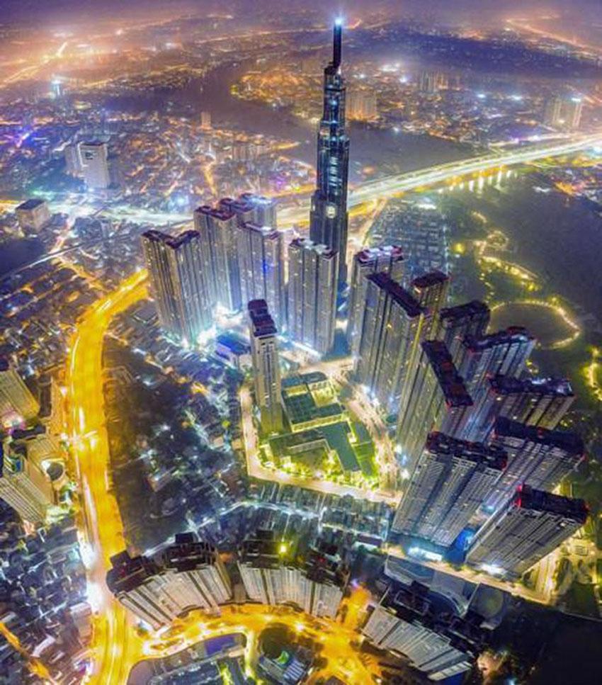 Khoảnh khắc Sài Gòn đẹp lạ thường trong bộ ảnh chụp từ trên cao 7